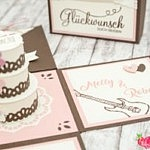 Vintage Explosionsbox zur Hochzeit – Verpackung Geldgeschenk