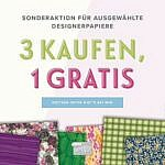 Designerpapieraktion 2018 – 3 + 1 gratis
