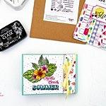 Minialbum mit Strohhalmbindung