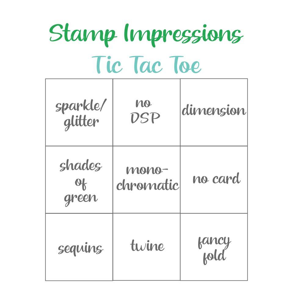 Stamp Impressions Blog Hop – Tic Tac Toe