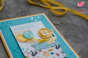 Bonanza Buddies Loewe Bub Stampin' Up! Anhaenger Tag Karte Card Geburtstag Birthday Stitched Gestickte Rechtecke
