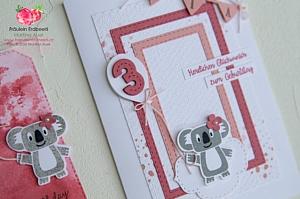 Bonanza Buddies Koala Maedchen Girl Stampin' Up! Anhaenger Tag Karte Card Geburtstag Birthday Stitched Gestickte Rechtecke