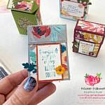 Videoanleitung: Kunstvoll Florale Flip Top Boxen mit verstecktem Fenster