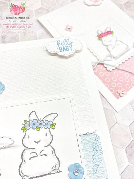 Willkommen Baby Häschen Karte