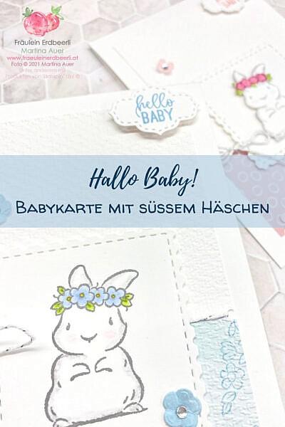 hallo baby pinterest babykarte mit häschen