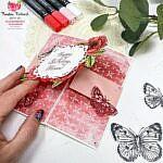 Gatefold Karte mit den hübschen Schmetterlingen BUTTERFLY BRILLIANCE