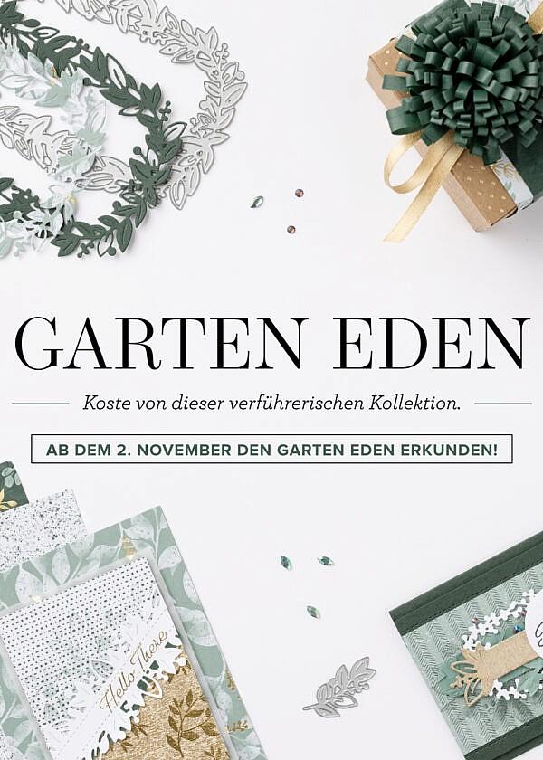 Garten Eden – neue Kollektion von Stampin' Up! inkl. GRATIS Workshop